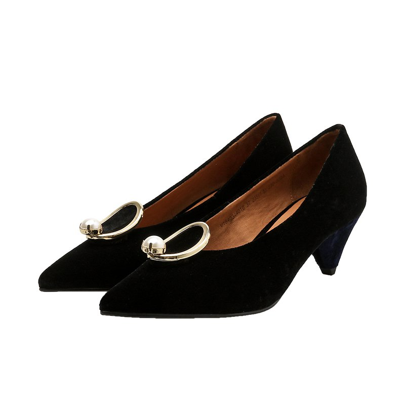 Women's Velvet Mid-Heels Thin Shoes (2 sets 50% off)
