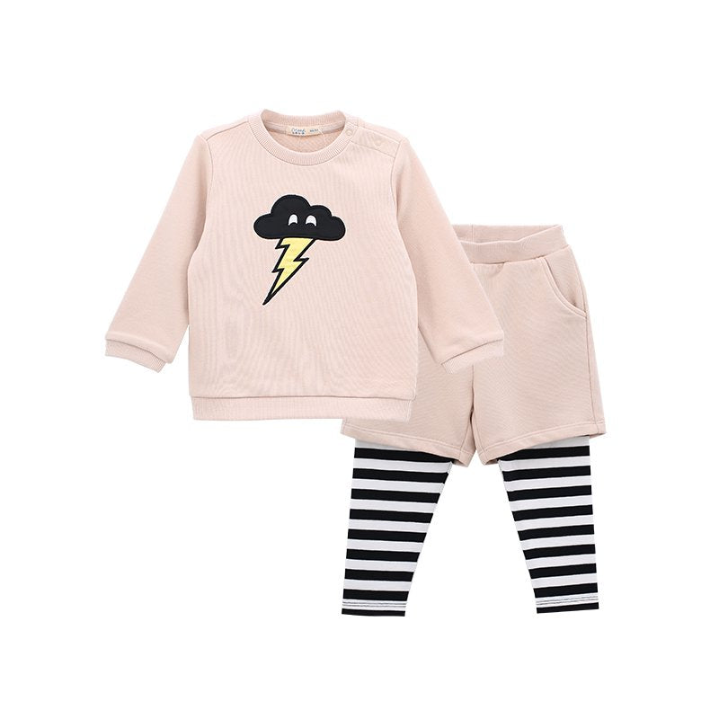 Baby Girls Fake Two-Piece Sweater Suit - Booth79