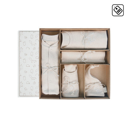 5 Piece Newborn Baby Layette Set with Gift Box - Booth79