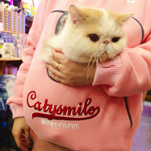 Catysmile Dogismile Hoodie Long Sleeve Cat Dog Holder Sweatshirt