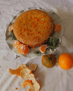 Hollie's Orange and Rosemary Polenta Cake