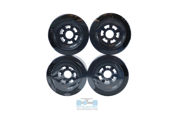 BLACK 90mm Longboard Flywheel Wheels