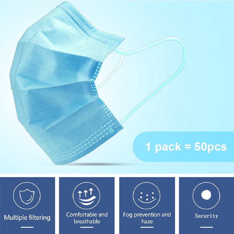 DHL 100/200/300/500/1000/2000/5000/10000pcs Disposable Face Mouth Mask
