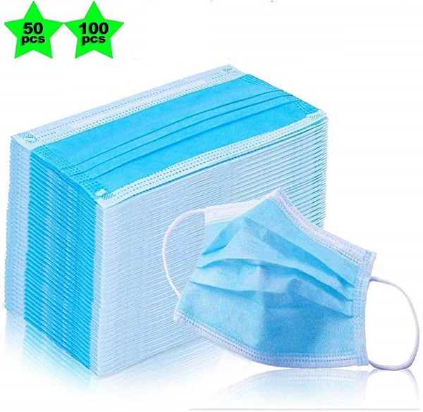 100pcs Disposable Non-Woven Three-layer Filter Anti-dust Mouth and Nose Face Mask