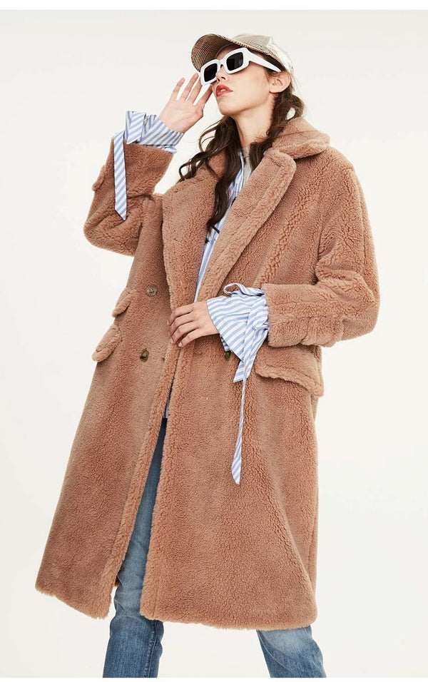 New arrival winter teddy bear long warm coat