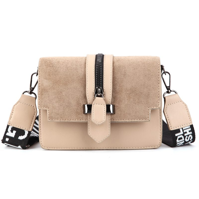 Mini retro wide shoulder strap messenger bag