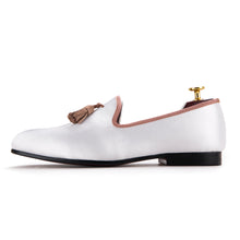 Handmade White Tassel Men's Shoe - luxuryandme.com