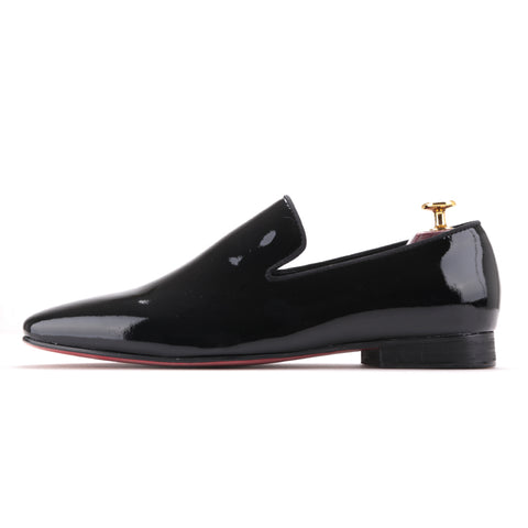 Black Patent Leather Men's Shoes
