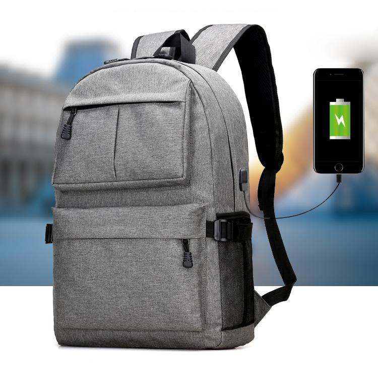 Daypack Oxford Canvas Laptop Backpack with USB Port - luxuryandme.com