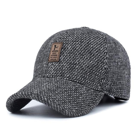 Woolen Knitted Design Baseball Cap with Earflaps