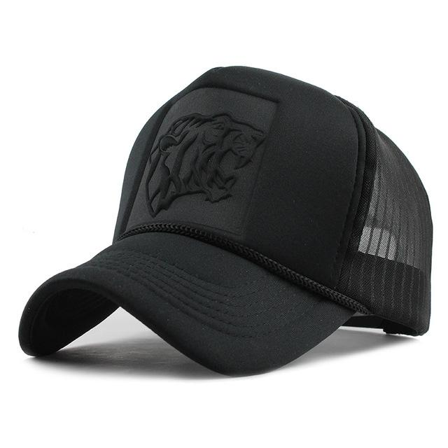 Hip Hop Black leopard Print Curved Baseball Caps - luxuryandme.com