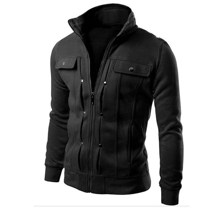Fake Pocket Zipper  Design Jacket - luxuryandme.com
