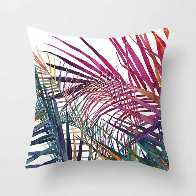 Vintage Flower Tropical Leaves Cushion Cover - luxuryandme.com