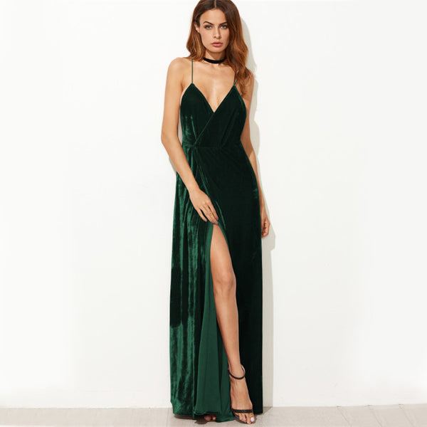 Strappy Backless Sexy Wrap Maxi Dresses
