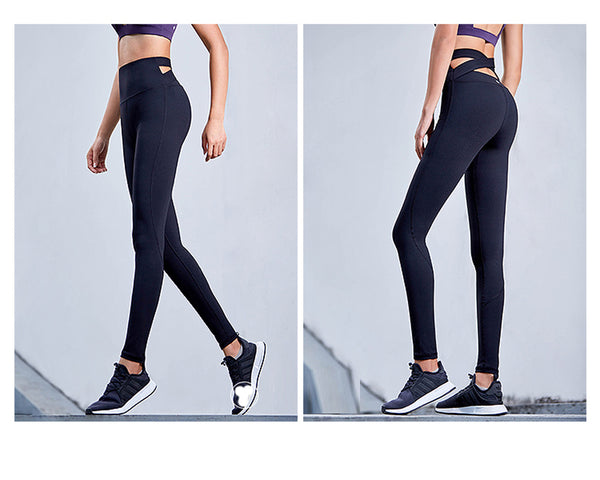 Black Strap Wide Waisted Yoga/ Excercise Pants