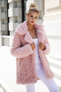 Faux Fur Long Casual Coat - luxuryandme.com