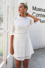 Vintage Hollow Out Elegant half Sleeve Midi Dress - luxuryandme.com