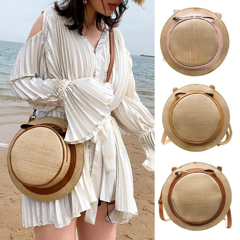 Hat Shaped Straw Bag