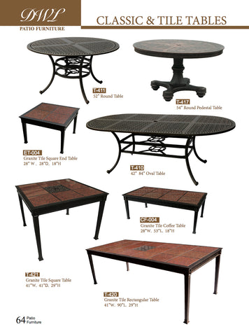 Classic and Tile Tables