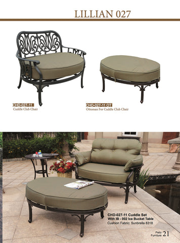 Lillian Lounge chair outdoor ottoman