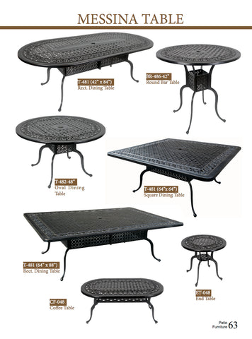 Messina Tables
