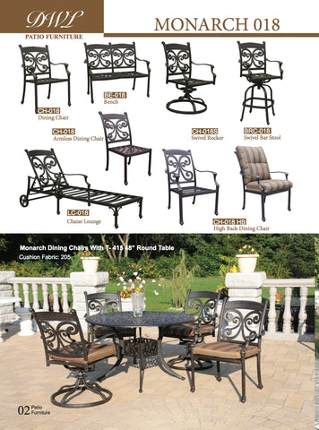 Monarch Cast Aluminum Patio Outdoor