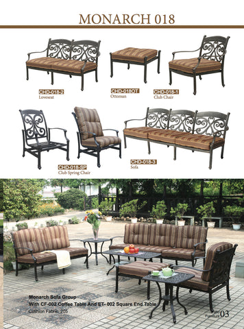 Monarch Cast Aluminum Outdoor Lounge Patio
