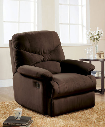 Arcadia Chocolate Glider Recliner