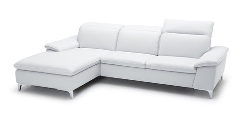 1911B Sectional with Chaise in White
