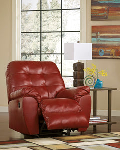 Alliston DuraBlend Rocker Recliner Red