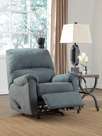 Zeth Rocker Recliner Denim