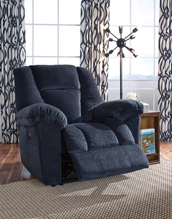 Nimmons Power Recliner Midnight