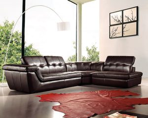 397 Italian Leather Sectional