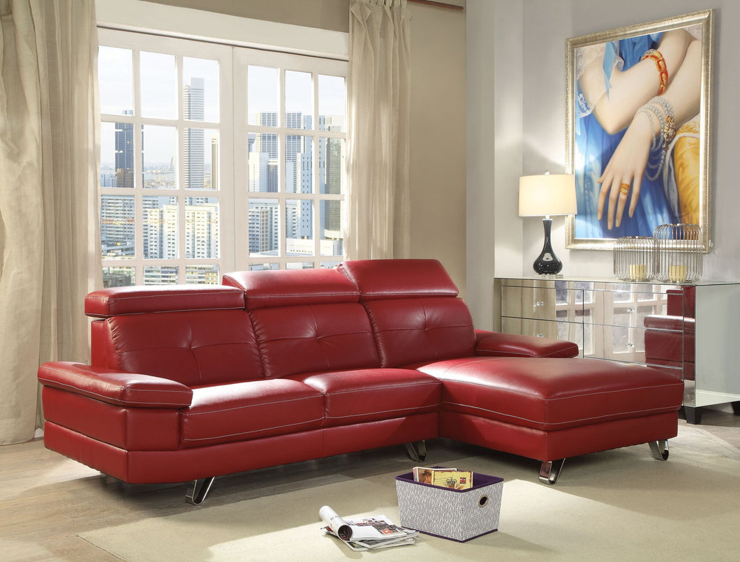 Aeryn Sectional Sofa in Red