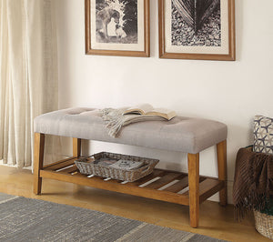 Charla Bench in Gray