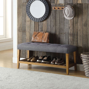 Charla Bench in Dark Gray