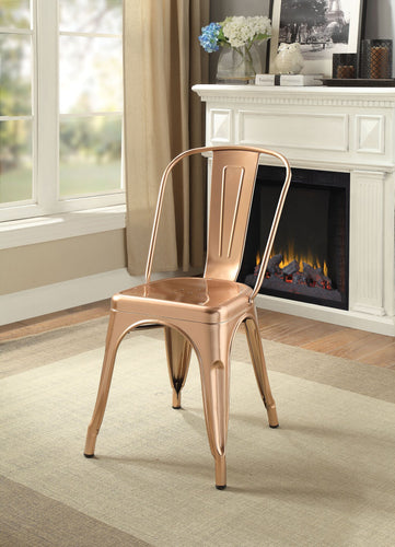Jakia Metal Chair Gold