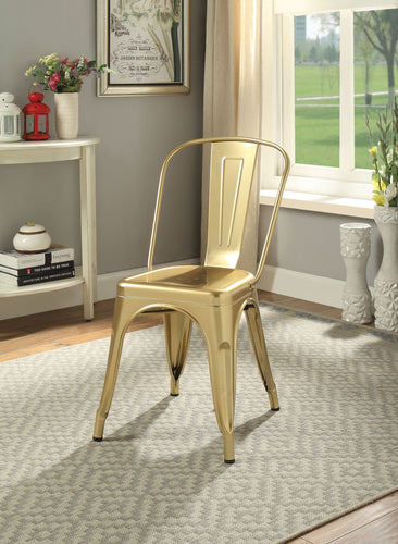 Jakia Metal Chair Bronze