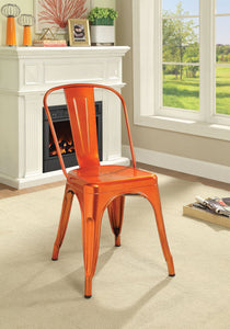 Jakia Metal Chair Orange