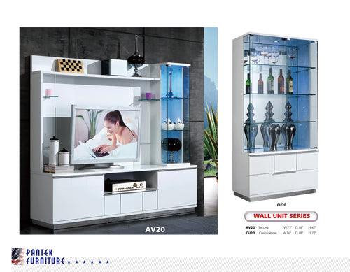 AV20 Wall Unit White
