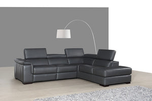 Agata Leather Sectional