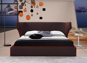 Chanelle Queen Bed in Chocolate