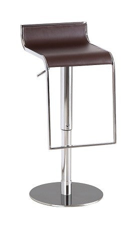 C027B-3 Brown Leather Barstool