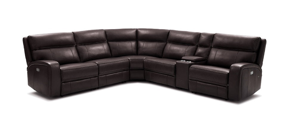 Cozy Motion Sectional In Chocolate