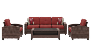 Meadowtown Sofa/Chairs/Table Set (4/CN)