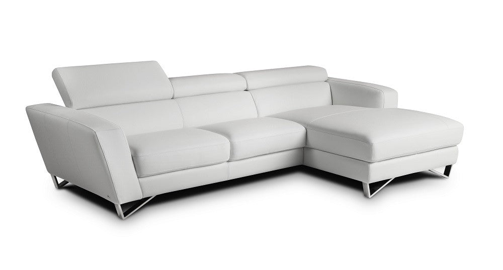 Sparta Mini Left Hand Facing Chaise in White