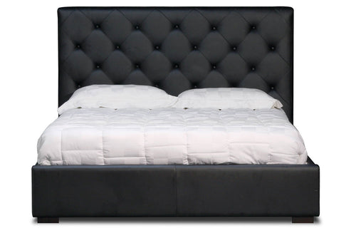 Zoe Storage Bed Queen Size in Black