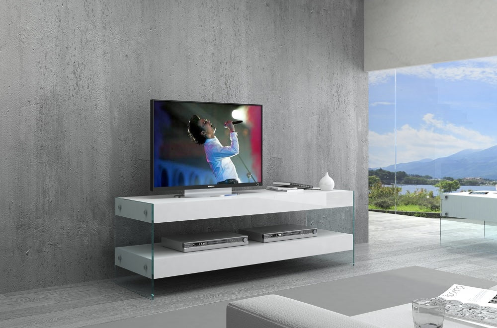 Cloud Mini TV Base White High Gloss