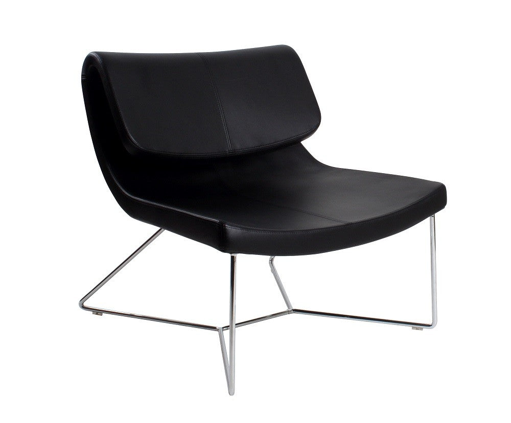 Hollywood Chair Black Leatherette