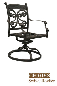 Cast Aluminum Swivel Rocker